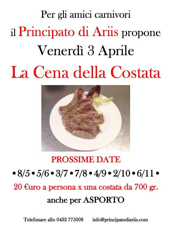 super mega costata di manzo irlandese la prossima data 6 marzo cena costata 3420  Cena della costata: prossima data 3 aprile: VE LA PORTIAMO NOI