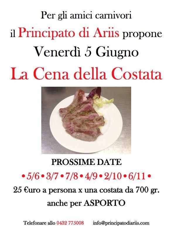 cena costata 5620 Cena della costata: prossima data 5 giugno