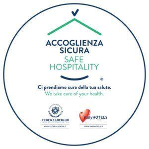 ACCOGLIENZA SICURA Logo tondo 10x10cm A 1 300x300 Hotel a Rivignano Teor, Udine