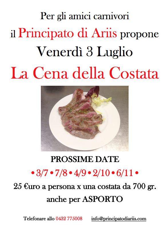 cena costata 3720 Cena della costata: prossima data 3 luglio