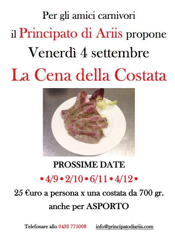 cena costata 4920 Cena della costata: prossima data 4 settembre
