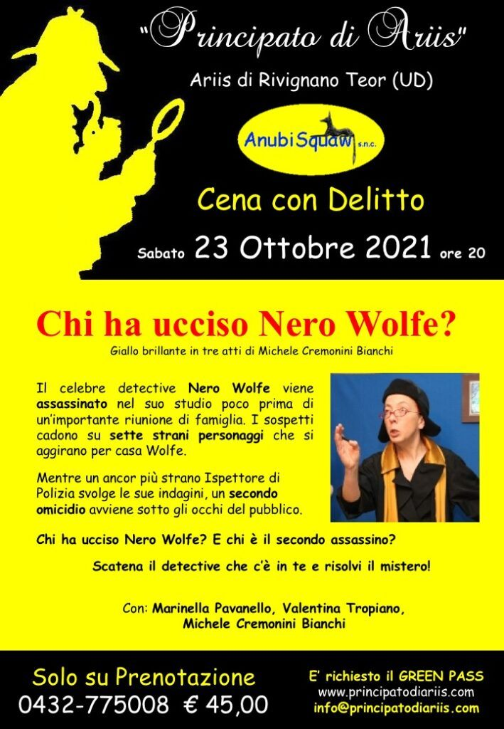 Delitto Nero Wolf 23102021 709x1024 Finalmente ritornano le Cene con delitto